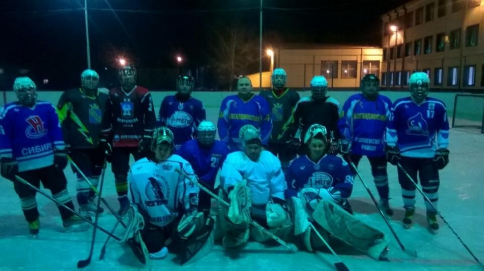 Богандинские хоккеисты вышли на первую тренировку
