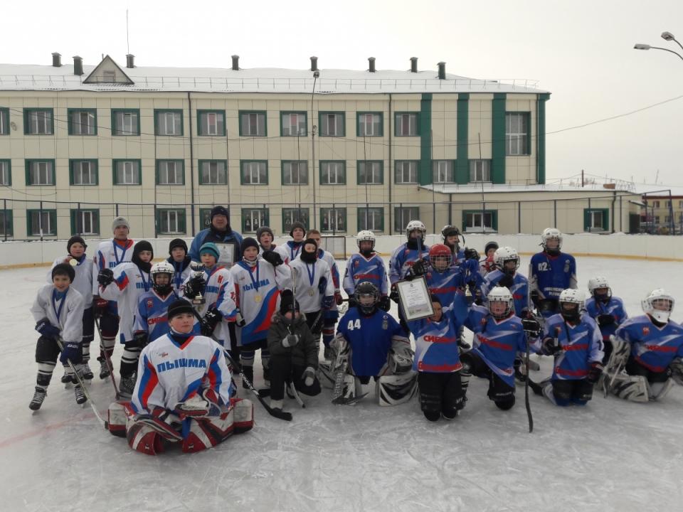 Завершились районные соревнования юных хоккеистов