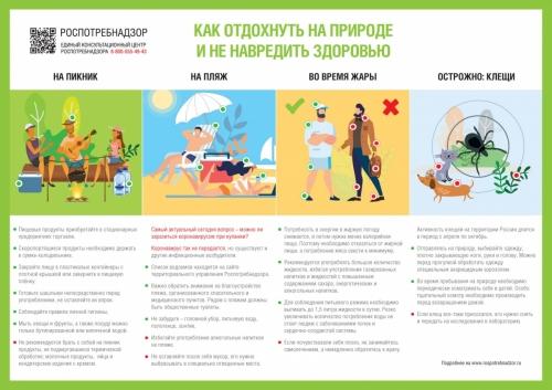 Рекомендации как отдохнуть на природе и не навредить здоровью